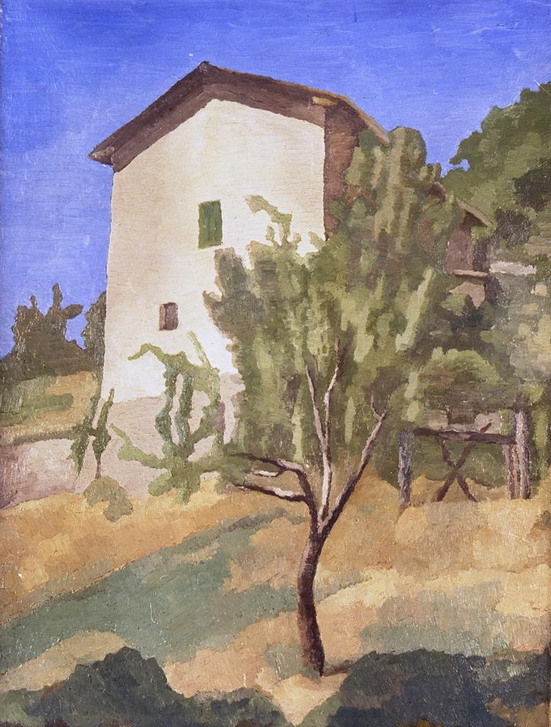 Paesaggio (Casa rosa), Giorgio Morandi