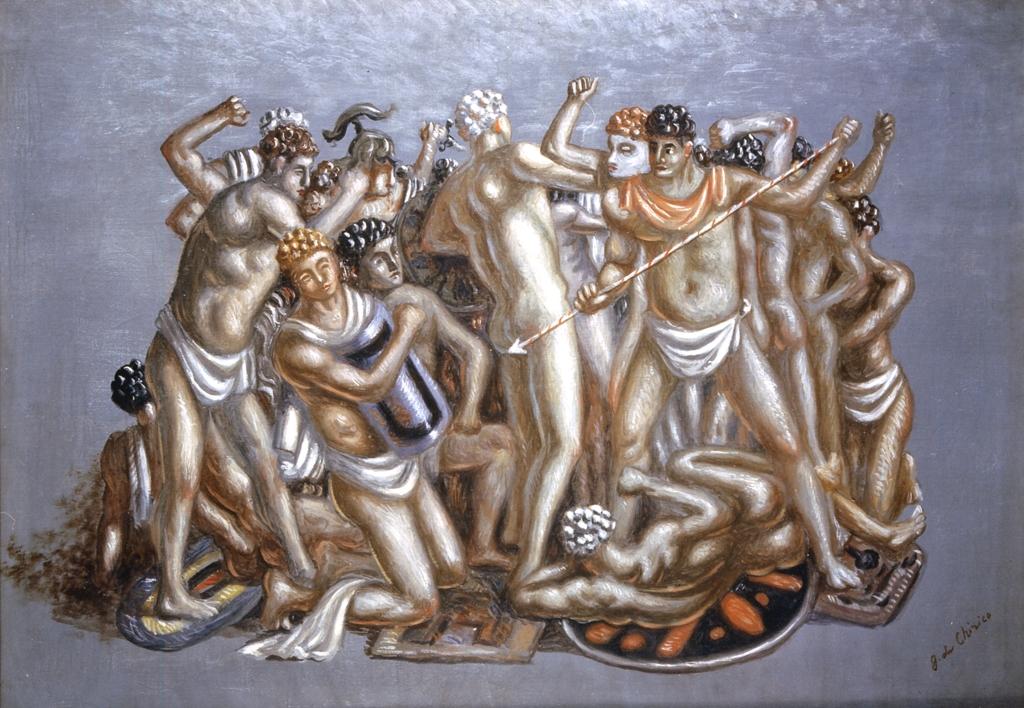 Combattimento di gladiatori, Giorgio de Chirico