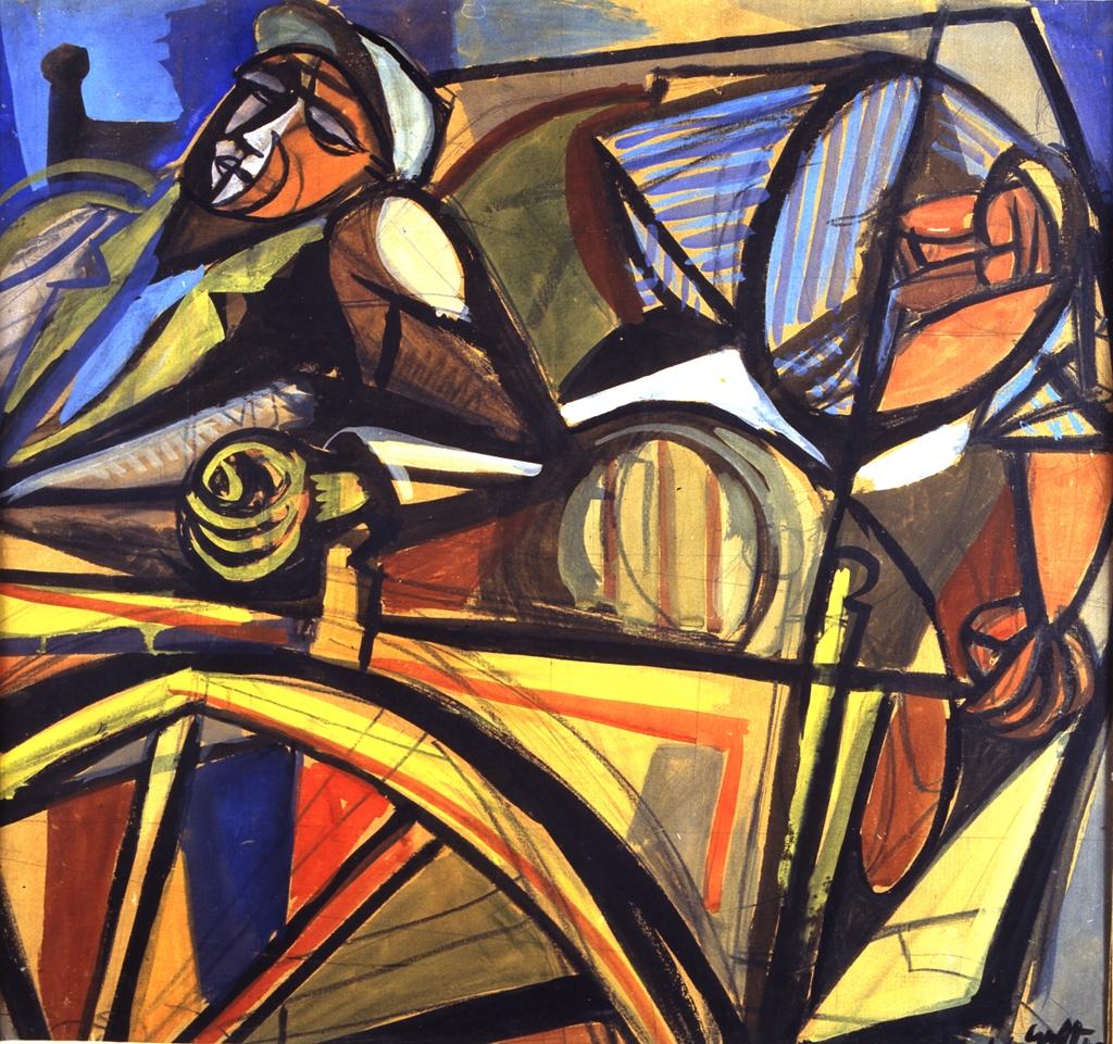 Carro siciliano e carrettiere, Renato Guttuso