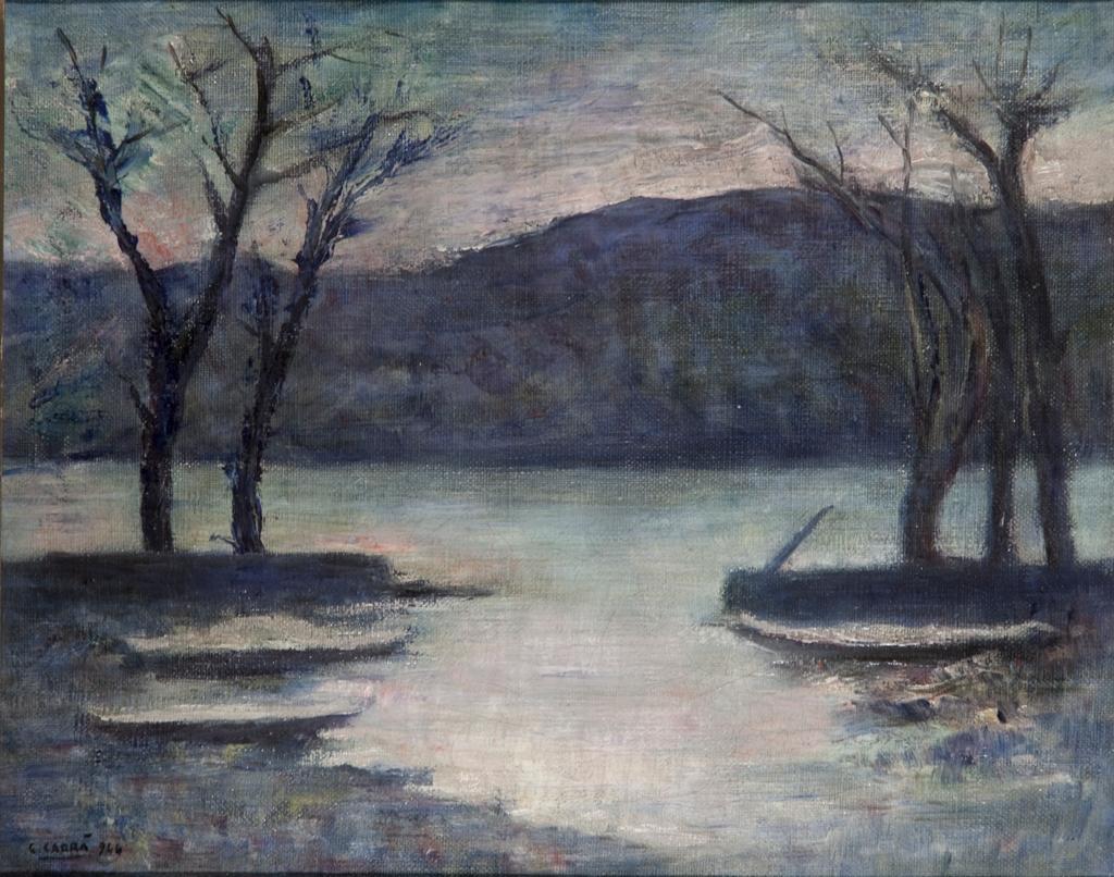 Inverno sul lago, Carlo Carrà