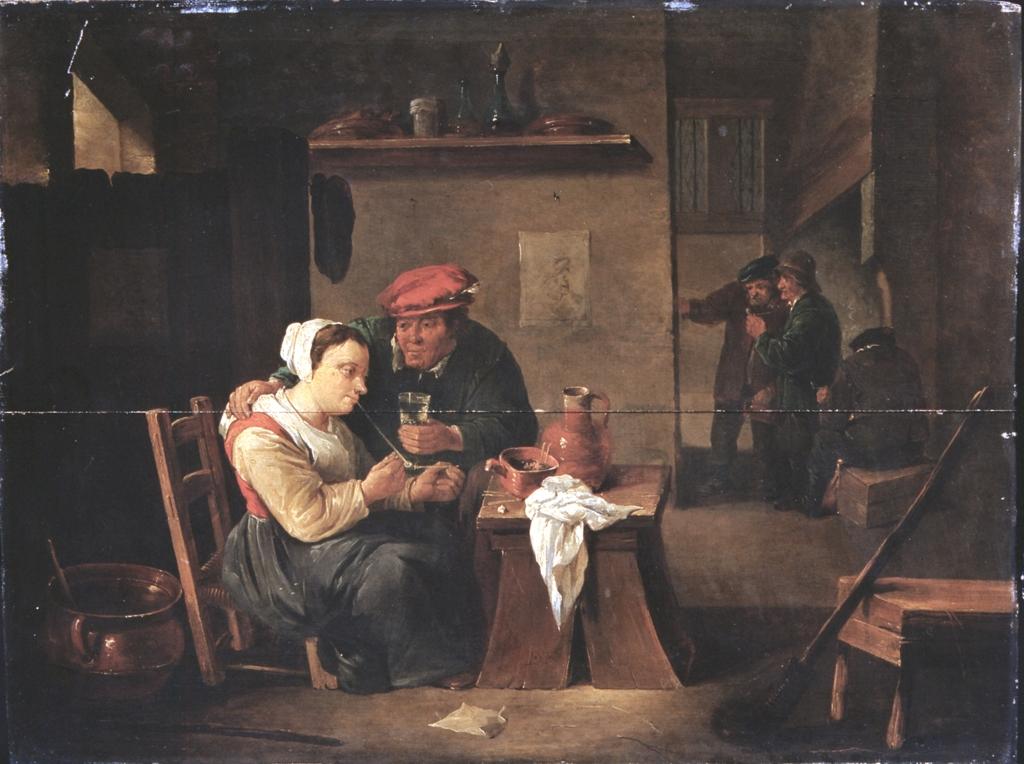 Amore dei vecchi nell'osteria, David (il giovane) Teniers