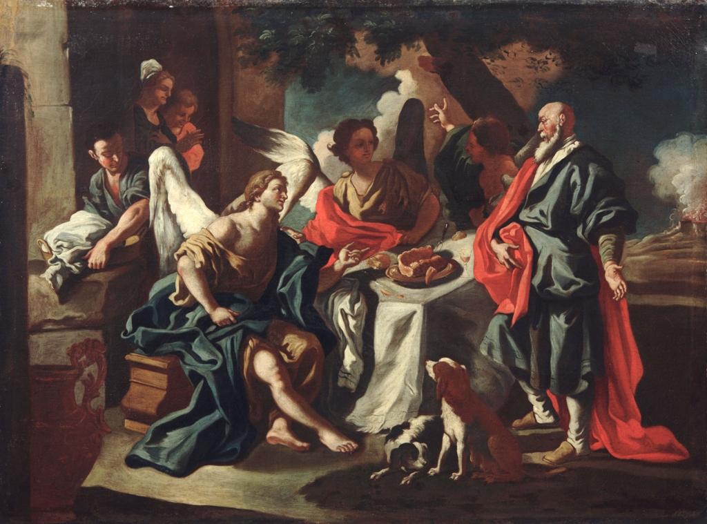 Abramo e gli angeli Francesco Solimena bottega
