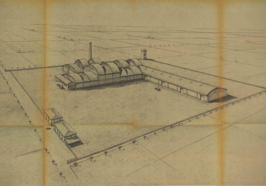 Progetto per la costruzione del nuovo stabilimento dell'azienda Conserve Alimentari Sarde - Casar, finanziato dal CIS, 1960