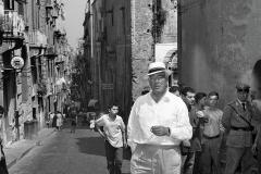 1963 Vittorio De Sica sul set del film Ieri, Oggi, Domani