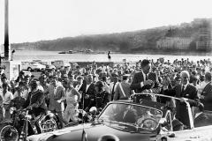 2 luglio 1963 J.F. Kennedy in visita ufficiale a Napoli. Sarà la sua ultima visita ufficiale all'estero