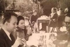 Una colazione linguistico-filologica sull\'Appia; da sinistra tdm, Liana Capitani, allieva pisana di Silvio Pellegrini, e Chico Rossi
