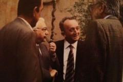 Roma, nei giardini della Sapienza: con Tonino Ruberti, ministro dell\'Università