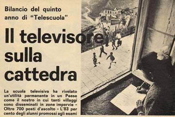 Il televisore sulla cattedra