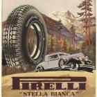 Bozzetto per pubblicità del pneumatico Pirelli Superflex Stella Bianca