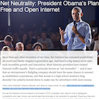"""no gatekeepers between you and your favorite online sites and services"": il piano di Obama"