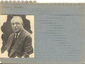 Enrico Loewy, arrestato a Trieste l'8 agosto 1944, detenuto a San Sabba, deportato nel campo di sterminio di Auschwitz