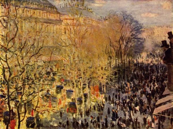 Claude Monet, Le boulevard des Capucines, 1873, 80 x 60 cm - Huile sur toile, Musée Pouchkine, Moscou