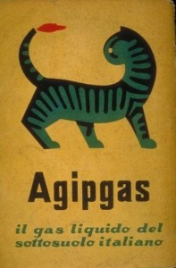 Il gatto a tre zampe, marchio dell'Agipgas