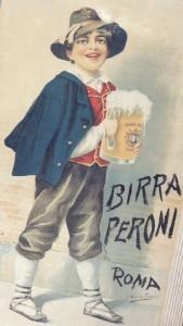 """Il """"Ciociaretto""""che beve birra Peroni, 1910 circa, Archivio Birra Peroni"""