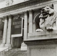 Central building of the NYPL. Exterior views, New York Public Library Visual Materials Collection