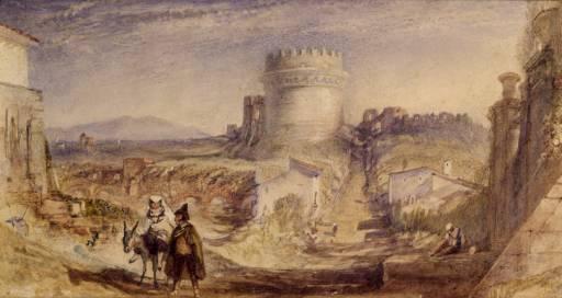 Tomb of Cecilia Metella, Rome 1830 Joseph Mallord William Turner