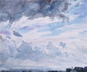 John Constable, Study of clouds above a wide landscape, 15/09/1830
