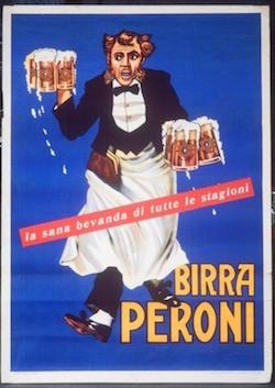 Cameriere che porta boccali di birra (tratto dall'archivio iconografico)