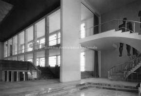 Casa delle Armi al Foro Italico progettata dall'architetto Luigi Moretti, Roma 1933. La Sala della Scherma