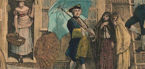 Jonas Hanway, il primo inglese a portare un ombrello
