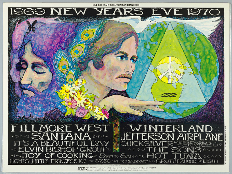 1969 New Year's Eve 1970 Cooper Hewitt, Smithsonian Design Museum